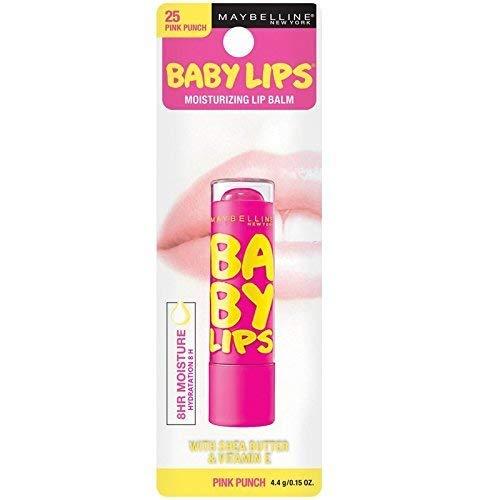 Maybelline Baby Lips Moisturizing Lip Balm 25 Pink Punch 0.15 oz (Pack of 2)