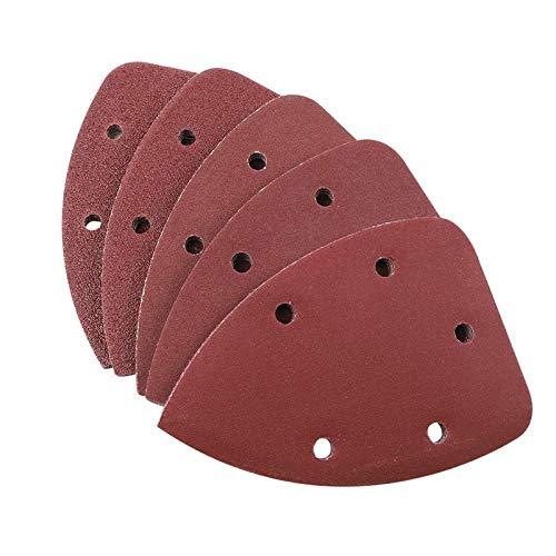 Coceca 100pcs Mouse Detail Sandpaper, Sander Pads Assorted 20 Each of 40 80 120 180 240 Grits, Hook and Loop Sanding Sheets for Detail Sander
