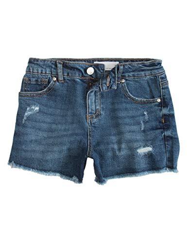 Rsq Vintage High Rise Girls Dark Wash Denim Shorts
