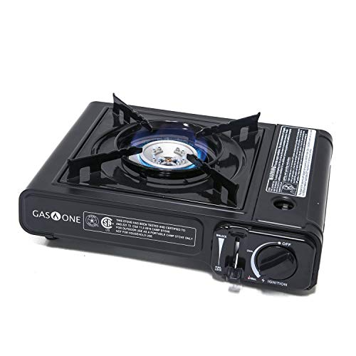GasOne GS-1000 7,650 BTU Portable Butane Gas Stove Automatic Ignition with Carrying Case, CSA Listed