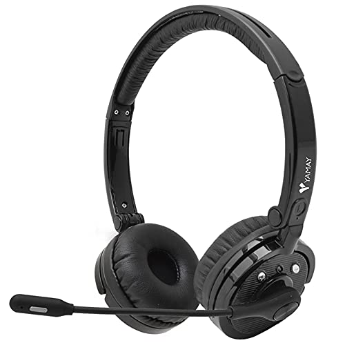Bluetooth Headphones,YAMAY M20 Wireless Headphones with Microphone Hands Free Noise Cancelling Wireless Bluetooth Headset for Cell Phones (Lightweight Foldable On Ear Design Multi-point Connect)