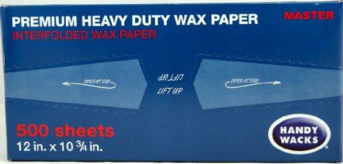 Wax Paper Premium Heavy Duty Handy Wacks 12' X 10 3/4' 1 Box of 500