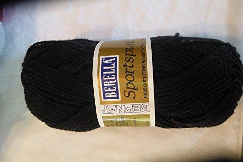 Bernat Berella Black Sportspun DK Double Knitting Weight Yarn