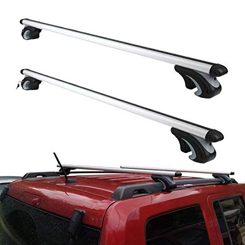 Otherya Aero Aluminum 54'' Universal Roof Rack Crossbars, Existing Raised Side Rail with Gap - Mounted Roof Cross Bars Fit Most Cars or SUVs