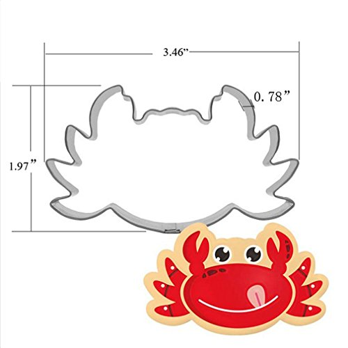 Crab Cookie Cutter - Food Grade Stainless Steel