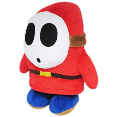 Little Buddy Super Mario All Star Collection 1591 Shy Guy Stuffed Plush, 6.5',Multi-colored