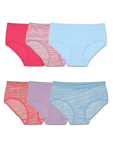 Fruit of the Loom Girls Seamless Underwear Multipack, Assorted, 10/12