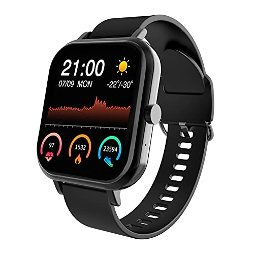 DOMEZAN Smart Watch, Compatible With Android And Ios Phones, 1.54-Inch Smart Touch Screen,With Advanced Health Monitoring Features Fitness Tracker And Ip67 Waterproof,Smart Watches For Men Women-Black