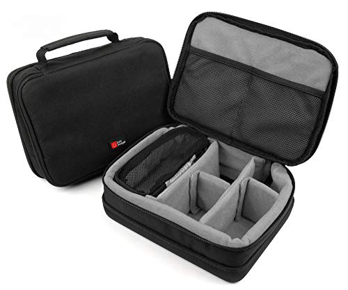 DURAGADGET Protective Black & Grey EVA Portable Speaker Case - Compatible with Gaosa Portable Wirless Speaker 10261559