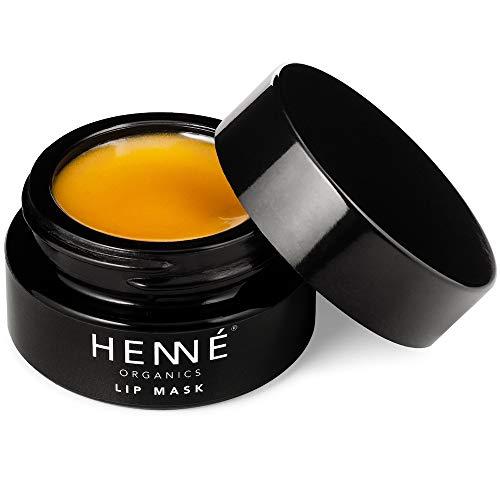 Henné Organics Lip Mask - Natural Organic Moisturizer Treatment for Plump Lips