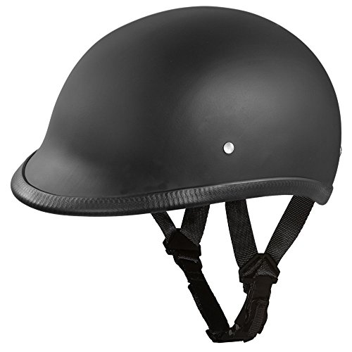 Daytona Helmets Motorcycle Half Helmet Hawk- Dull Black 100% DOT Approved