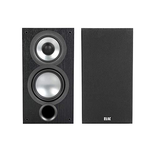 ELAC Uni-Fi 2.0 UB52 Bookshelf Speakers (Pair), Black (UB52-BK) (Renewed)