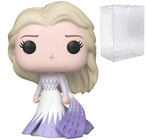 Funko Pop! Disney: Frozen 2 Elsa (Epilogue Dress) - Bundle - with Funko Vinyl Collectible Protector Box