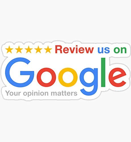 Review Us On Google - Pack of 3 Sticker Graphic - Made to Last - Premium Quality Vinyl Sticker