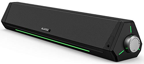 Computer Speakers, Dynamic RGB Computer Sound Bar, HiFi Stereo Bluetooth 5.0 & 3.5mm Aux-in Connection, USB Powered Computer Speakers for Desktop, PC, Laptop, Tablets