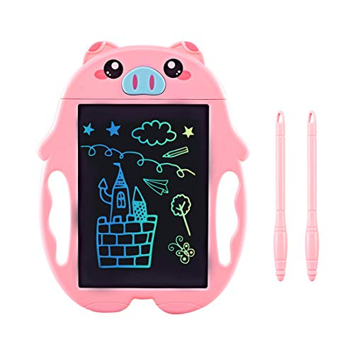 Girls Gifts Age 3 4 5 6 Year Old Girl Toys, Colorful LCD Drawing Tablet for Kids Educational Toy for 3-6 Year Old Girl Boy, Writing Doodle Board Birthday Christmas Xmas Present Gifts for Kid Pink