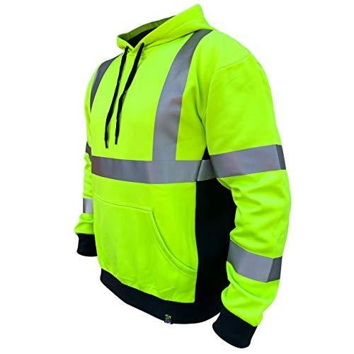 SafetyShirtz SS360 ANSI Class 3 Safety Hoodie Yellow (Safety Green) 2XL