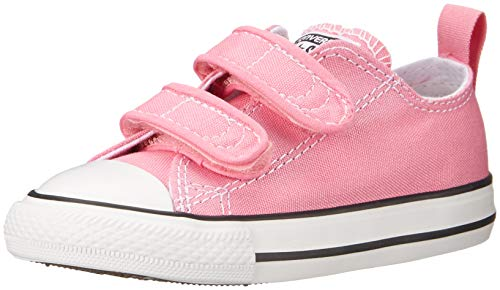 Converse Baby-Girl's Chuck Taylor All Star 2V Low Top Sneaker, Pink, 10 M US Toddler