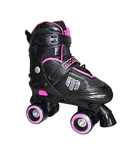 Mongoose Adjustable Quad Roller Skate- Pink and Black- Sizes 1-4