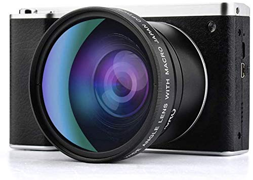 Digital Camera,Vlogging Camera 4.0 Inch Touch Screen 24MP FHD 1080P Wide Angle Lens YouTube Camera 8X Digital Zoom Camera with Flash Microphone