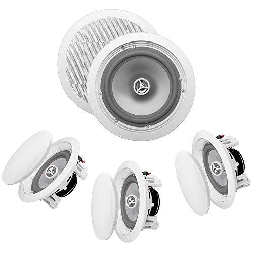 OSD Audio ICE800WRS 8' in-Ceiling/in-Wall 300W Water-Resistant Outdoor Speaker Set of 4 Speakers