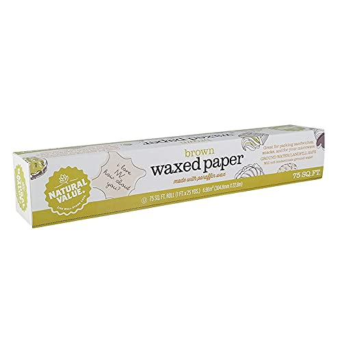 Natural Value Waxed Paper / 75-sq. ft. roll / 6-pack