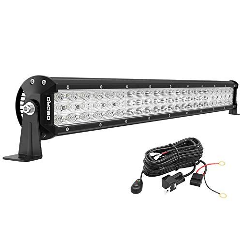 oEdRo LED Light Bar 22 Inch 479W 52690LM Triple Row Work Light Spot Flood Combo Off Road Light LED Driving Fog Lights Boat Lighting Fit for UTV ATV Jeep Truck SUV w/Wiring Harness, 3 Years Warranty