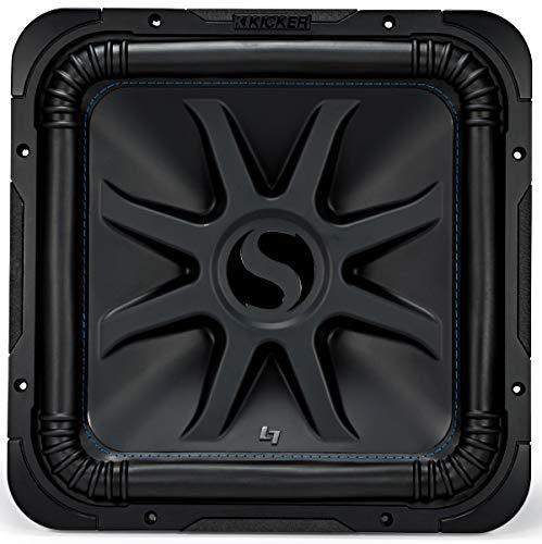 KICKER L7S15 Car Audio Solobaric 15' Subwoofer Square L7 Dual 4 Ohm Sub 44L7S154 (Renewed)