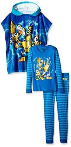 LEGO Big Boys' Lego Mixels Electroid Cotton Pajamas + Hooded Towel Set, Multi, 6/7