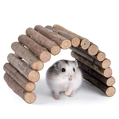 Niteangel Wooden Ladder Bridge, Hamster Mouse Rat Rodents Toy, Small Animal Chew Toy