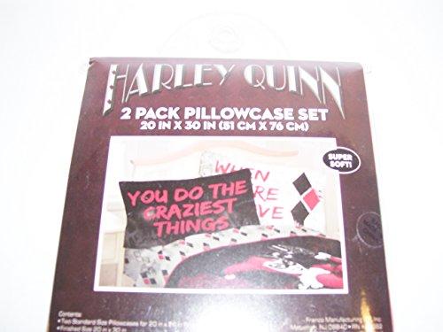 DC Comics Harley Quinn Crazy Love Pillowcase set 2pk