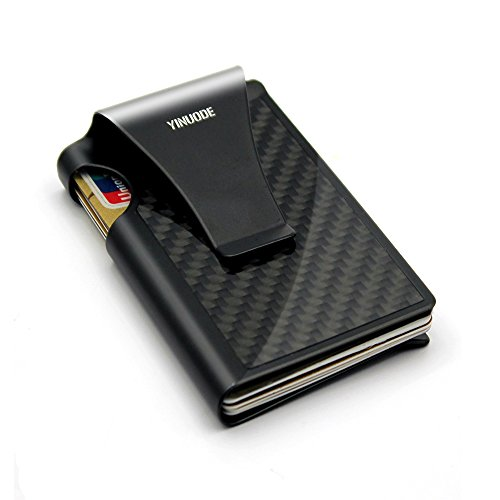 Minimalist Carbon Fiber Slim Wallet, Slim Wallet & RFID Blocking Front Pocket Wallet,Minimalist Wallet for Men and Women