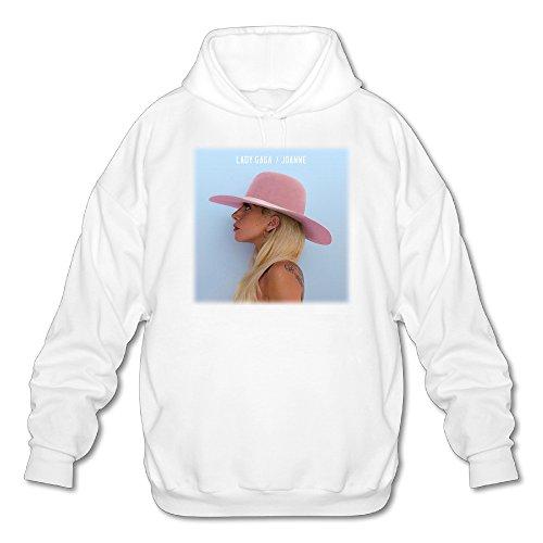Nick Jonas Men's Lady Gaga Joanne Album Poster 2016 Hooded Sweatshirt White