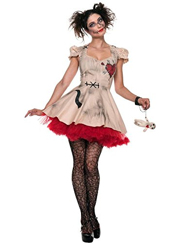 Seeing Red Womens Voodoo Doll Costume - S
