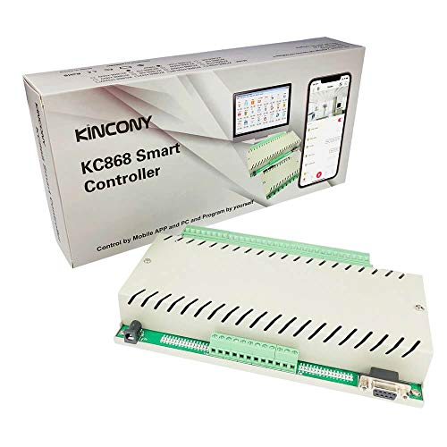 KINCONY Smart Switch 32 Channel Ethernet Relay Module DC 12V RS232 Network IP Web Relay Controller with iOS/Android Mobile APP DIY Smart Home Automation
