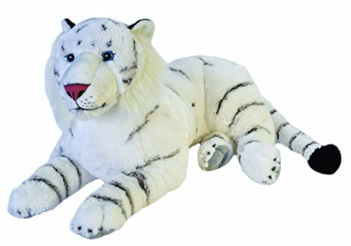 Wild Republic Jumbo White Tiger Plush, Giant Stuffed Animal, Plush Toy, Gifts for Kids, 30' (19548)