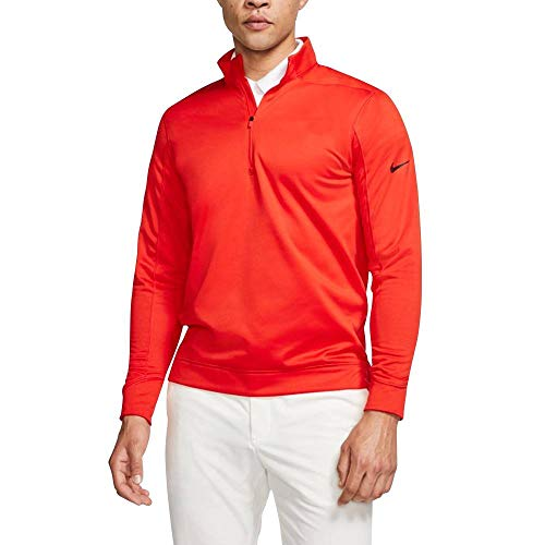Nike Therma Repel Top Half Zip OLC Golf Pullover 2019 Habanero Red/Black X-Large