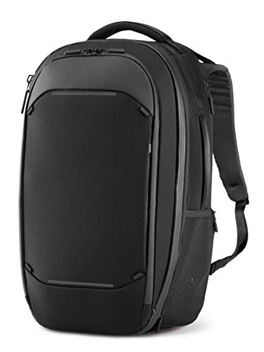 Nomatic Navigator Travel Backpack 32L W/ 9L Built-In Expansion   Anti-Theft Carry-On Size for Travel   17' Laptop Compartment, Water Resistant Travel Pack, Weekender Bag for Men & Women, Black