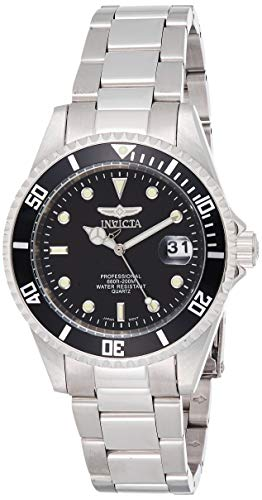 Invicta Men's Pro Diver 37.5mm Stainless Steel Quartz Watch with Coin Edge Bezel, Silver (Model: 8932OB)
