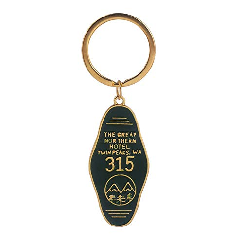 Keychain Twin Peaks Souvenir The Great Northern Hotel 315 Letter Green Pendant Keyring