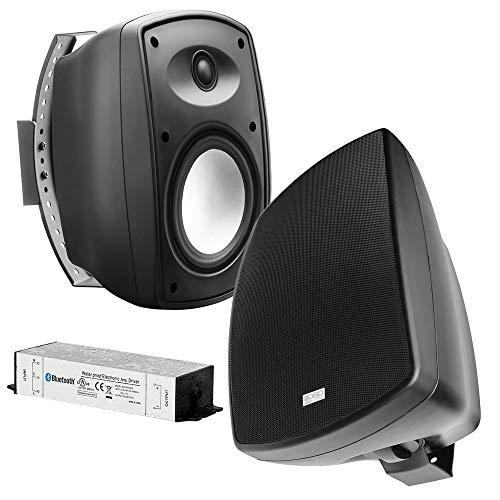 OSD Audio 6.5' Wireless Bluetooth Outdoor Patio Speaker Architectural Stereo Pair Black BTP650 Long Range Bluetooth