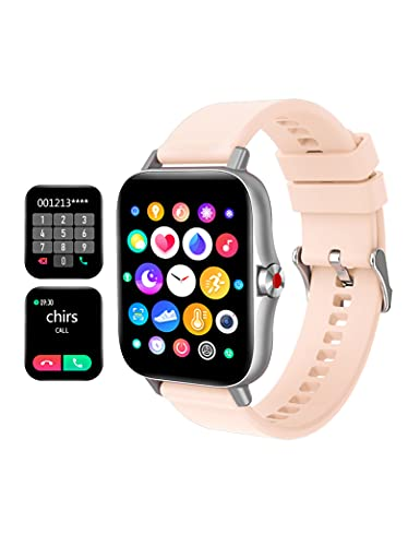 Forca Smart Watch,1.69' Fitness Watch,Smart Watch for Android Phones iOS Compatible Smart Watches for Men Women,Fitness Tracker with Heart Rate Monitor,Waterproof Smartwatch (Pink)