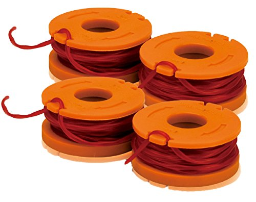 Worx WA0004 Bundle of 2, 2 packs - 10foot Spool Replacement Trimmer Line