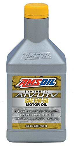 Amsoil 5W-50 Synthetic ATV/UTV Engine Oil (1 Quart)