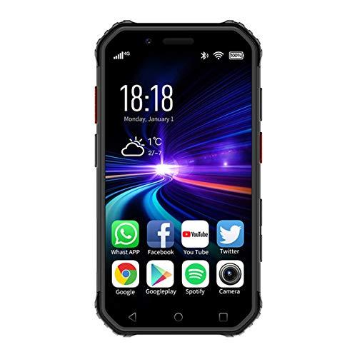 Soyes S10 Mini Rugged Waterproof 4G Smartphone 3G 32G Mini Smartphone Android 6.0 MTK6737 1800mAh Soyes XS Mobile Cellphone NFC Face ID Fingerprint (Black Gray)