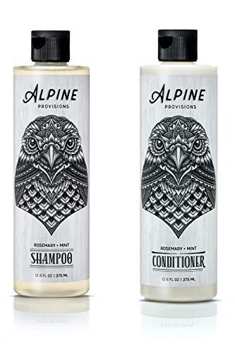 Alpine Provisions, Shampoo & Conditioner, Rosemary + Mint, 12.6 fl oz, Variety 2 Pack