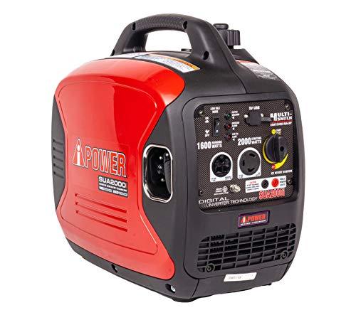 A-iPower SUA2000iV 2000 Watt Portable Inverter Generator Quiet Operation, Lightweight