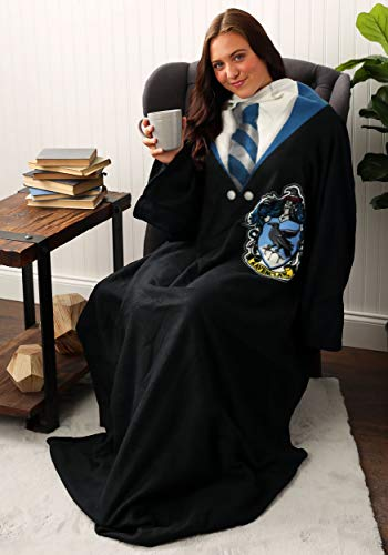Harry Potter Ravenclaw Rules Soft Throw Blanket with Sleeves, 48' x 71'