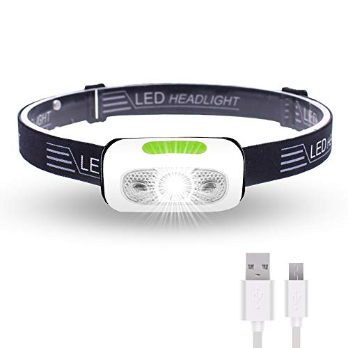 500 Lumens USB Rechargeable Headlamp,Lightweight,Super Bright LED Running Headlamp for Runner,Rainstorm Waterproof,Hoxida LED Headlight Flashlight With Sensor Switch - Built-in Battery