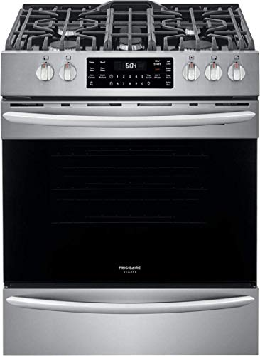 Frigidaire FGGH3047VF 30' Gallery Series Gas Range with 5 Sealed Burners, griddle, True Convection Oven, Self Cleaning, Air Fry Function, in Stainless Steel
